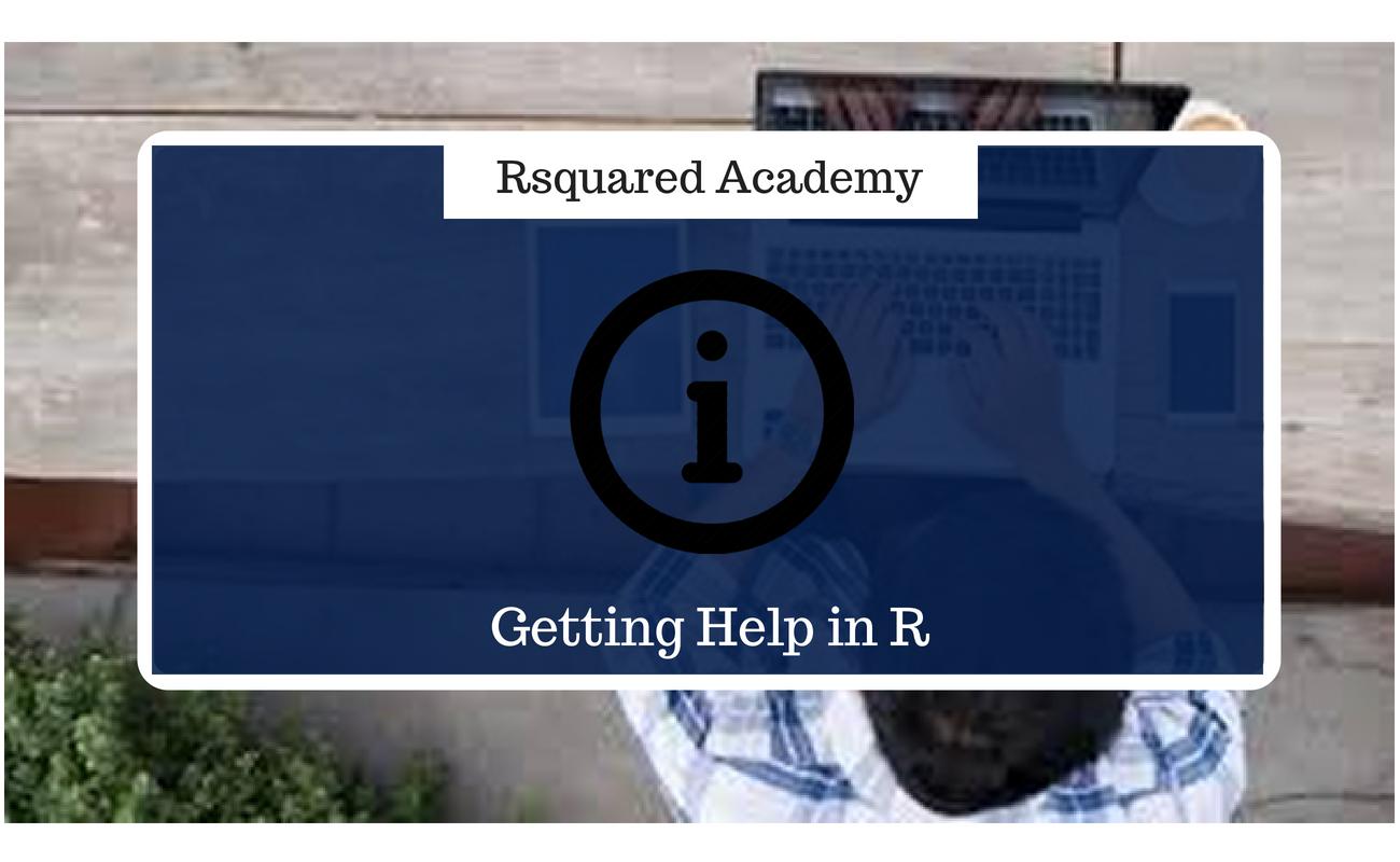 在R中获取帮助